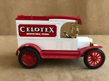 Celotex truck coin bank vintage white red delivery van ceiling Ford model