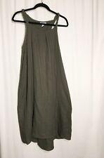 Liz Lange Maternity Dress Green Sleeveless Sun Dress Size XSmall   (R7)