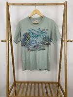VTG Aquarium Of The Americas New Orleans Sansegal Double Side Print T-Shirt L