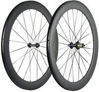 700C 60mm Carbon Fiber Wheels Road Bike Clincher Bicycle Carbon Wheelset UD Matt