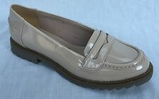 Clarks Griffin Milly Oyster Ladies Patent Shoes Size UK 6.5 Loafers Slip on