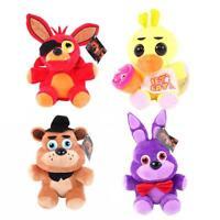 4PCS FNAF Five Nights at Freddy's Chica Bonnie Foxy Plush Doll Toys Set UK