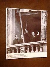 Il Fascismo in Italia Duce Benito Mussolini Da Palazzo Venezia nei primi '20