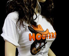 M Hooters Cowgirl Uniform Cowboy Shirt L Shorts Socks PANTYHOSE Name Tag
