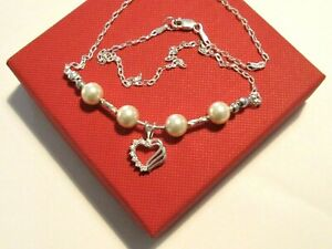 Ladies925 Sterling Silver *Heart* pendant Chain necklace *in a gift box*