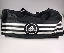 Adidas 3 Stripes Golf Medium Duffle Bag Gym Shoulder Strap Black White