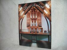 Visser-Rowland Pipe Organ Co. picture brochure #