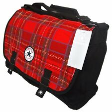 Converse Chuck Patch Paid Tartan Shopper Bag Rosso Nero tasche Taglia L (f6r)