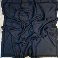Italian fashion brand pure mulberry silk twill fabric. 90 x 90cm. Defect