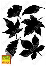 Satinier Schablone/ Aufkleber Blätter in Schwarz A5 -Neu-  Heike Schäfer