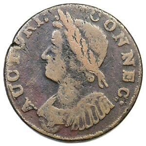 1786 5.8-H.2 R-5+ Connecticut Colonial Copper Coin