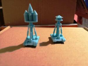 6mm 2* mobile command tanks / wizards towers 3d Printed Resin  sci-fi gaming