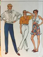 1986 'VOGUE' VERY EASY VERY VOGUE SHORTS & PANTS PATTERN 9529 SIZE 12,14,16