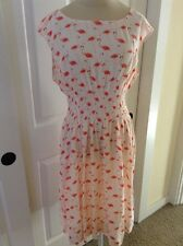 NEW KATE SPADE FLAMINGO BLAIRE DRESS LADIES SIZE 10 IN SHELL PINK