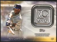 Ken Griffey Jr. Commemorative 70th Anniversary Patch Topps Baseball 2021