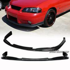 Black Polyurethane PU Front Bumper Lip Spoiler Wing For 02-03 Nissan Sentra SE-R