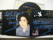"MICHAEL JACKSON ""THEY DON'T CARE ABOUT US"" - MAXI CD - 4 SONGS - BLAUE VERSION"