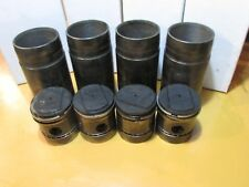 4 Farmall A  IHC engine motor pistons & sleeves off running motor UPDATED SHIP