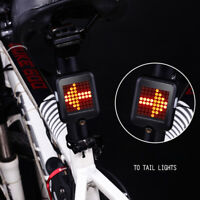 64LED  Laser Indicator Bike Rear Tail Turn Signal Bicycle Light Wireless Remote