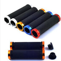 Double Lock-On Locking MTB Cycle Mountain Bike Bicycle Handle Bar End Grips NEW*