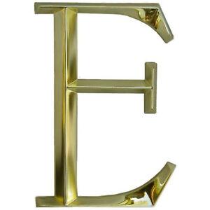 "WHITEHALL Door House Address Street Number Letter E Polished Brass 6"" 152mm 6 in"