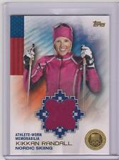 2014 TOPPS OLYMPIC KIKKAN RANDALL GOLD RELIC CARD ~ 25/25 ~ NORDIC SKIING LEGEND
