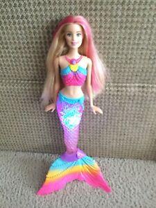 2015 Barbie Dreamtopia Rainbow Lights Mermaid #DHC40 Barbie Doll Lights Up Works