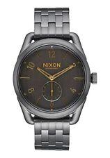 NWOT Nixon A950-2211-00 C39 SS , 39 MM Watch All Gunmetal Gold Mens  Nt556