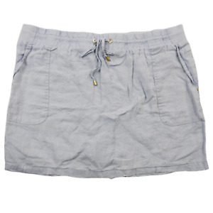 Company Ellen Tracy Light Blue Draw String Stretchy Skirt Women's Size XL