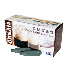 Case of 600 8g Liss Whipped Cream Chargers N2O nitrous oxide European gas