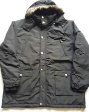Nuevo abrigo parka con capucha KAM Negro 3XL