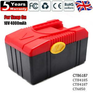 18V 4.0Ah For Genuine Snap-On Battery Li-Ion CTB6187 6185 CTB4187 CTB4185 CT6850