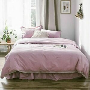 Satin Lace Twill Washed Cotton Four-piece Bedding Set