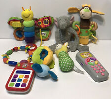 Lot of 8 Baby Toys Rattles Teethers Nuby Lamaze Fisher Price Grin n Grow