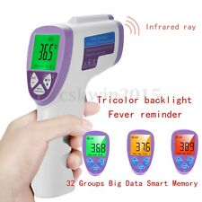 Non Contact Digital IR Infrared Surface Body Forehead Ear Thermometer Baby Adult