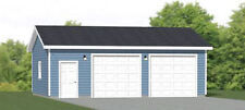 30x24 2-Car Garage -- 720 sqft -- PDF Floor Plan -- Model 1