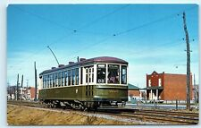 *Vintage Montreal Transportation Commission Steel Street Car Canada Postcard B35