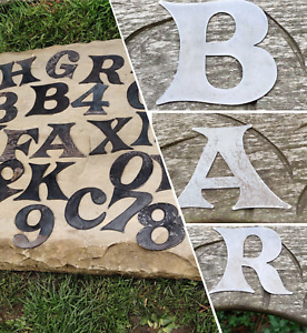 """SMALL METAL LETTERS NUMBERS 3"""" INCH SIGN WORDS HOME SHOP WEDDING CAFE GARDEN"""