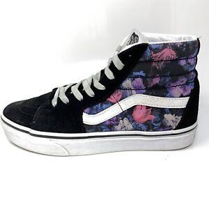 Vans Off The Wall 500714 Hi-Top Shoes Sneakers Womens Sz 7 M Purple Floral