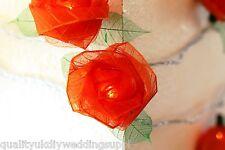 Flor Rosa Naranja LED de batería portátil Hada Luz 20 Luces de rosas y 20