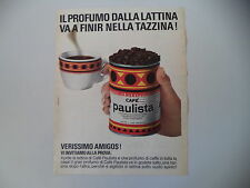 advertising Pubblicità 1968 CAFFE' CAFE' PAULISTA