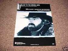 Talking to The Wrong Man - Michael M Murphy 1988 Mint
