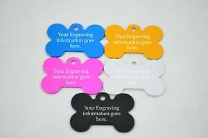 ENGRAVED DOG PET TAG ID FREE P&P DEEP ENGRAVING NAME IDENTITY 100+ FONTS!!!!!