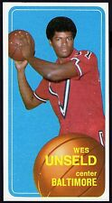 1970 NM BASKETBALL CARD~WES UNSELD~BALTIMORE BULLETS~1968 ROOKIE OF THE YEAR