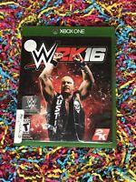 WWE 2K16 W2K16 (Microsoft Xbox One, 2015) - Complete w/ Manual