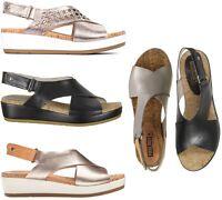 Pikolinos Women Mykonos Comfort Leather Platform Summer Sandals NEW