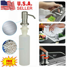 300ML Kitchen Sink Soap Dispenser Polish Stainless Steel Hand Liquid Pump Bottle