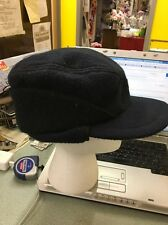 Mackinaw Hat Cap Dark Blue Ear Flap Elmer Fudd Hunting Vintage Medium Dorfman