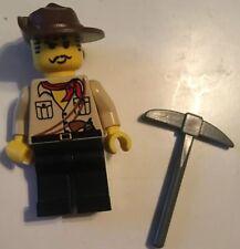 LEGO Minifigure Johnny Thunder Desert Adventurers 5986 5987 minifig Fig Pick Axe