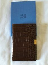 SYMTHSON OF BOND STREET JOTTER IN LEATHER WITH CROCODILE PRINT W BOX & PEN